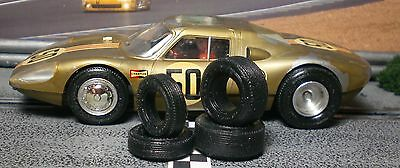 1/32 URETHANE SLOT CAR TIRES 2pr fit Vintage Monogram Porsche 904