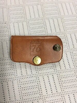 Vintage 76 Union Oil Minute Man Stations Leather Key Holder