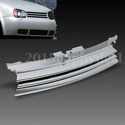 Chrome Badgeless Debadged Front Sports Grille Grill For VW GOLF MK4 MK IV 97-04