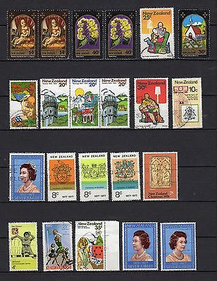 New Zealand 64 assorted used stamps