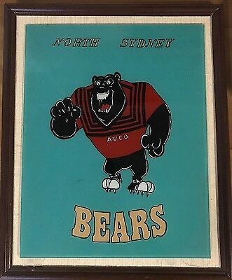 North Sydney Bears Bar Reverse Painting On Glass - Collectors Item