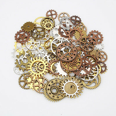 60pcs Steampunk Gears Mixed Packing Zinc Alloy Charms Jewelry Mixed Tool