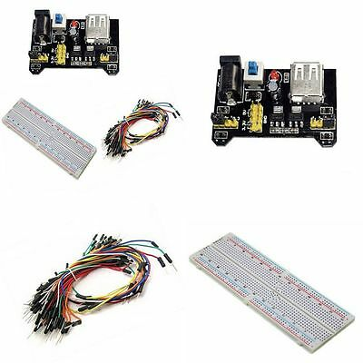 830 Point +Power Supply Module 3.3V 5V +65PCS Jump Cable Wires Solderless