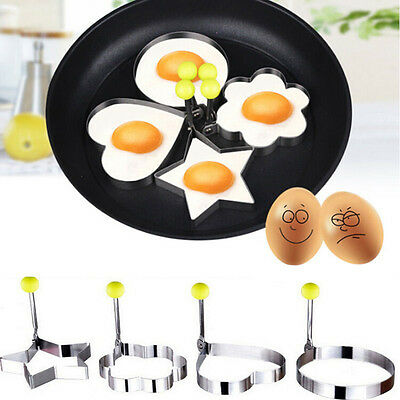 Pancake Mould Rings Cooking Kitchen Tool Stainless Steel Fried Egg Shaper Ring