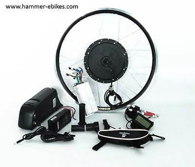 48V 1000W Electric Bicycle e-Bike Rear Wheel Conversion Kit with 11.6Ah Battery