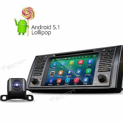 Car Reverse Camera & Android 5.1 Stereo DVD Player for BMW E39 M5 I WIFI HD OBD2