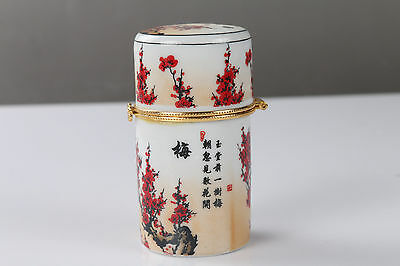 Chinese hand painting Plum Porcelain Toothpick Holder / Gift Box  H636