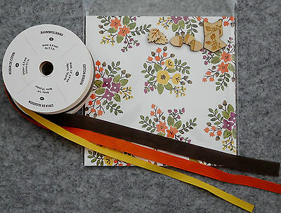 Stampin' Up! Into the Woods DSP Kit, 6x6 pack,12 sheets, ribbon & embellishments