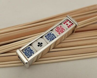 Carrs Sterling Silver Poker Set Holder With Dice