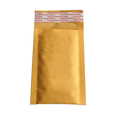 10X 90*130+40mm Kraft Bubble Bag Padded Envelopes Mailers Shipping Yellow   R