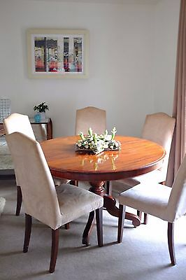 Round Dining table antique mahogany Victorian