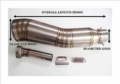 52mm Motorcycle moto gp style Exhaust Muffler Silencer Can Slip-on