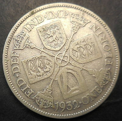 Great Britain 1932 KGV  silver florin   Scarcer date