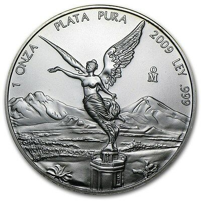 2009 Mexican Libertad 1oz .999 Silver Coin (Mint Condition In Capsule)