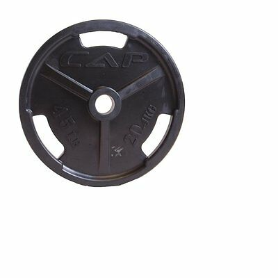 CAP Barbell Black 45 lb Olympic Rubber Grip Plate