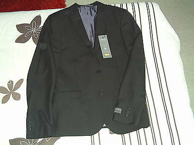"M&S Limited Edition Super Slim Fit black suit jacket 40"" brand new"