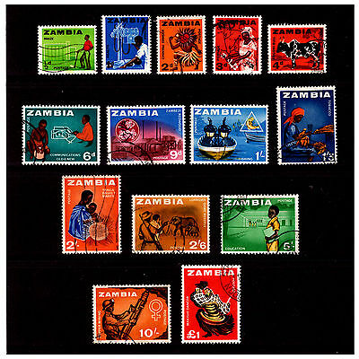 Zambia Stamps Set. 1964. Used.  #600