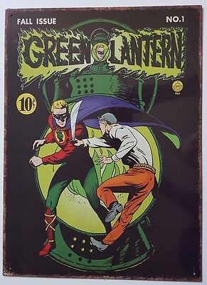 GREEN LANTERN TIN / METAL - DC Comics  Comic Book Cover FALL ISSUE NO1 Poster