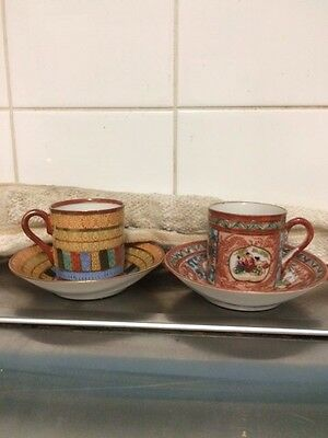 tee cups and matching saucers