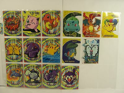 Complete Topps Pokemon TV Animation Edition / Puzzel 10 Card Set + 5 More..MINT