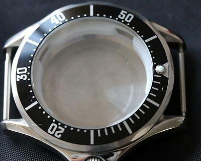 Seamaster style watch case, black bezel ETA 2824-2, ST2130, ST1612