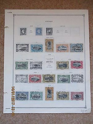 1886 - 1932 Belgian Congo collection on pages 115 stamps used & mint see scans