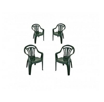 Plastic Garden Chairs Furniture Set Outdoor Patio Seat 4PC Wicker Conservatory