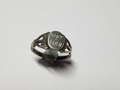 Late Roman Ring with VOT HER Inscription