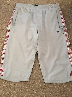 mens 3/4 length Adidas Trousers- Large