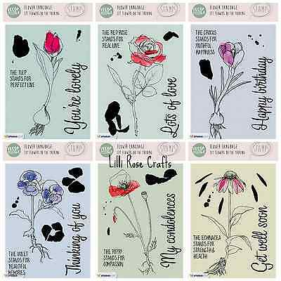 Studio Light A6 Veer & Moon Clear Stamps - Flower Language Sets - Poppy - Rose