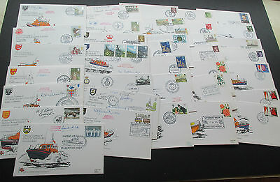 GREAT BRITAIN - FINE COLLECTION OF 1970s ROYAL LIFEBOAT F.D.COVERS MANY SIGNED