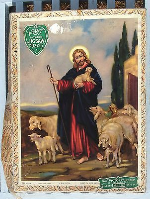 Vintage Victory Wooden Jigsaw Puzzle Religious Series Christ The Good Shepherd