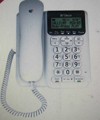 BT Decor 2500 Corded Phone with Answering Machine - White