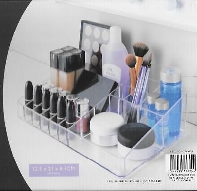 Make up Box Cosmetic Display Storage Jewellery Organiser clear case