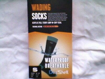 DexShell Knee Length Wading Socks - Black/Aqua Small UK 3 - 5 Brand New/Boxed