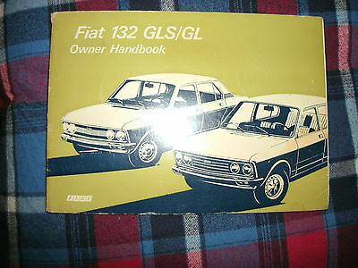 FIAT 132 GL/GLS owners manual