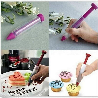 Silicone Chocolate Cream Decorating Pen Squeeze Sauce Baked Cake Kitchen Tools