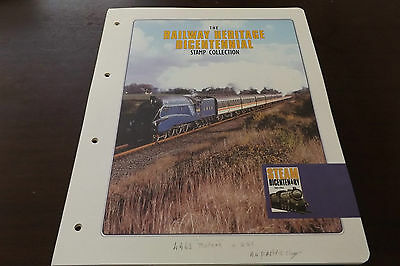 The Railway Heritage Bicentennial Gambia Mnh Stamps, Miniature Sheet, Fdc's