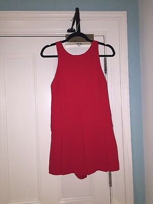 Red Zara Playsuit Size s