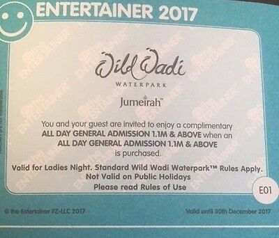 Dubai Entertainer 2017 Vouchers - Wild Wadi Waterpark