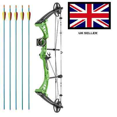 SILCO GREEN DRAGON ADULT COMPOUND ARCHERY BOW 30-55lbs  WITH 5 ARROWS & ACCS