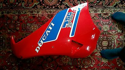 Ducati 750 Sport Left Hand Fairing Panel Red 1989 Model