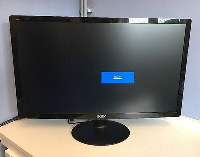 """Acer  S240HL 24""""  Widescreen LED Monitor Full HD Used With Original Box"""
