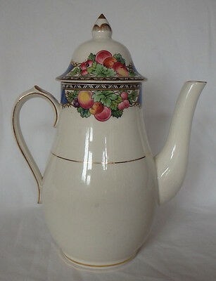 Vintage Booths Silicon China Ceylon Ivory Orchard Coffee Pot