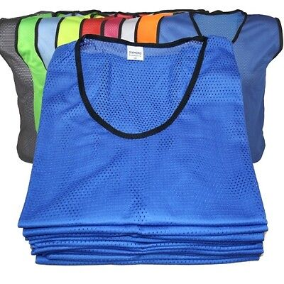 Pack of 10 Diamond Football Training Bibs Mens Youth and Boys