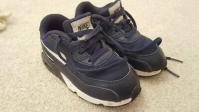 Nike air max size infant 8.5 navy