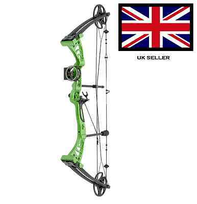 SILCO GREEN DRAGON ADULT COMPOUND ARCHERY BOW 30-55lbs  WITH 2 ARROWS & ACCS