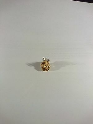 0945 - Thomas Sabo Sterling Silver Yellow Gold Plated Crown Charm