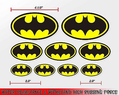1 set batman logo emblem decal sticker print die-cut out vinyl wall mirror