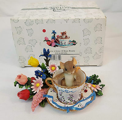 Charming Tails YOU'RE A SISTER RARE BEAUTY Mouse in Teacup Figurine #89/252 NIB